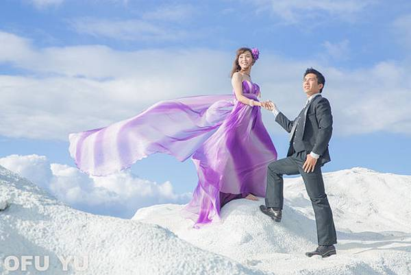 紫色飄紗裙