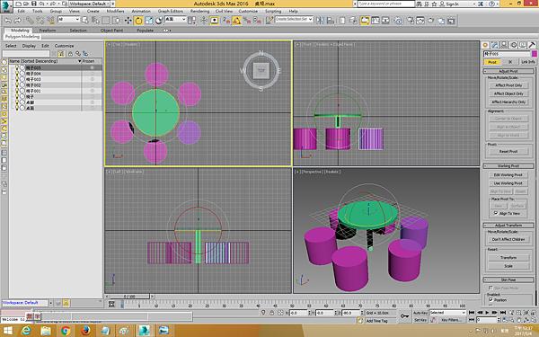 05-3D- MAx-旋轉複製椅子完成畫面如下.png