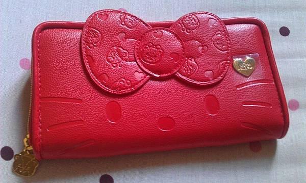 Hello Kitty大紅皮夾