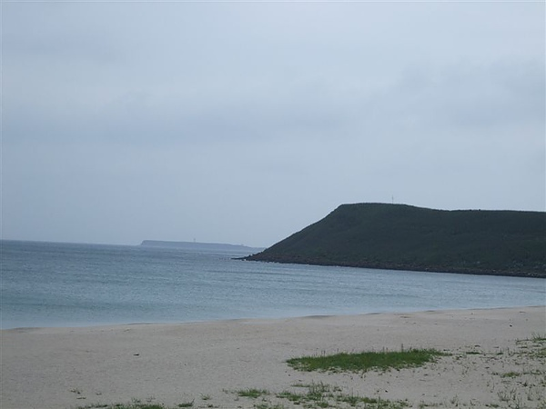 最美的沙灘弧線