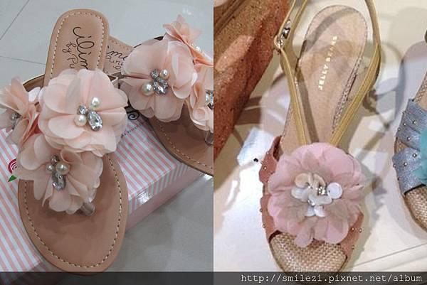103.7.21 日或粉紅花朵涼鞋