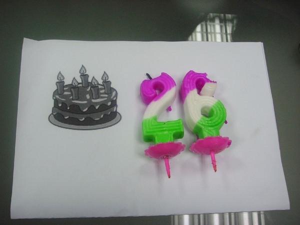 這是壽星自己上網找的蛋糕底圖