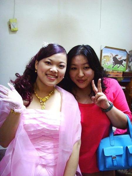 粉紅色的禮服真幸福