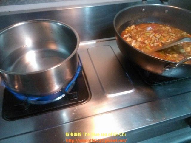 炸醬義大利麵