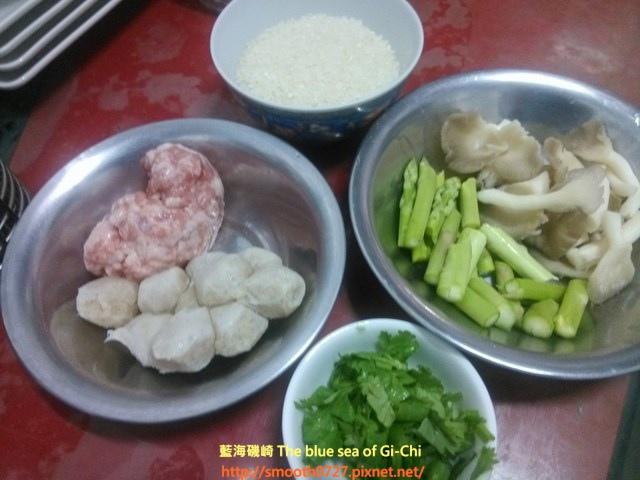 蘆筍魚丸粥