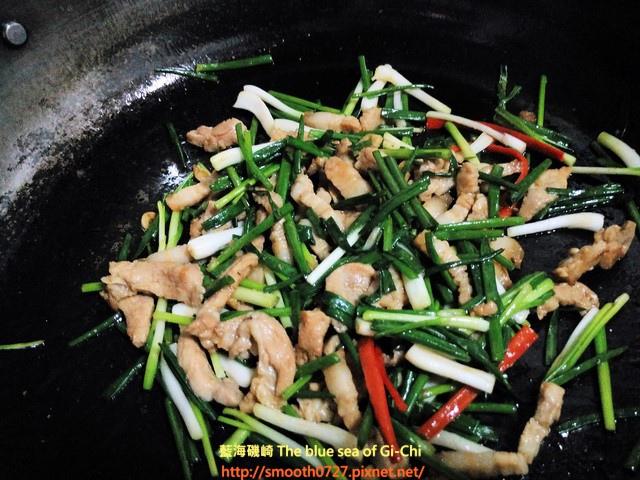 珠蔥炒肉絲