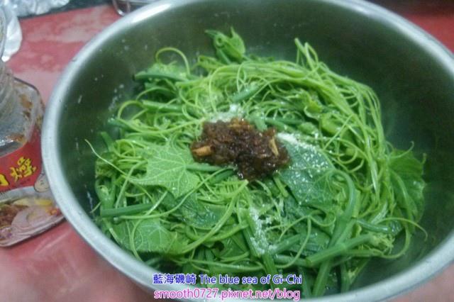 紅蔥肉燥拌龍鬚菜