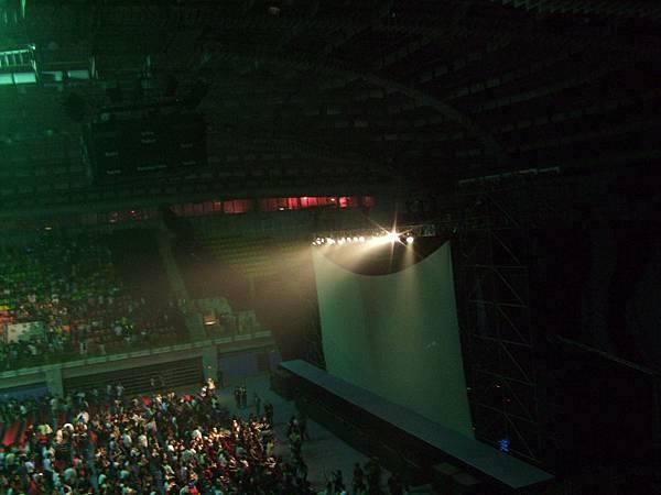 舞台上的大螢幕