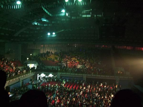 開唱前座位已坐了八九成