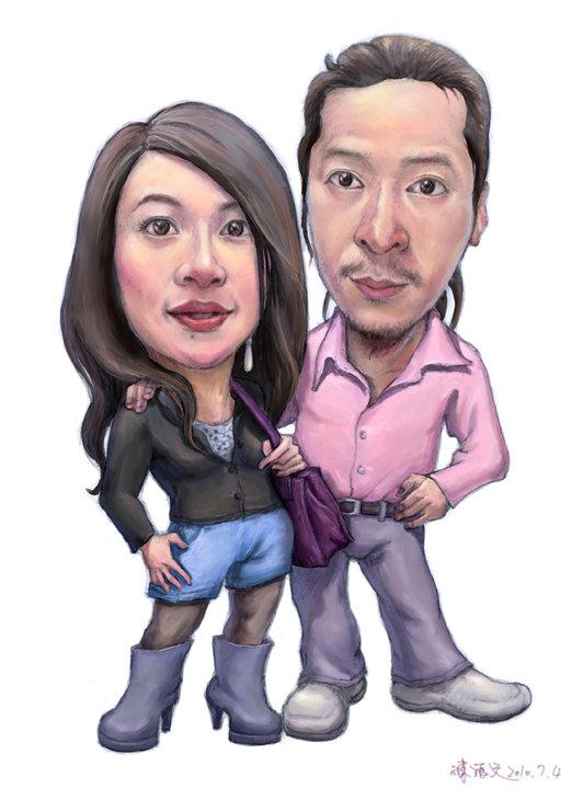 設計部的總監 阿智和他女友丹丹(彩色版)