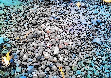 石頭排列的情詩