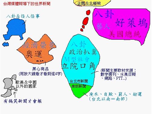 台灣媒體眼中的世界地圖