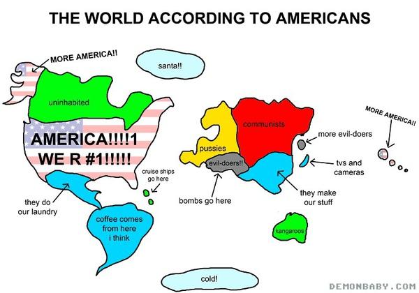 美國人心中的世界地圖第二發