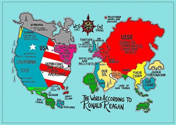 美國人心中的世界地圖