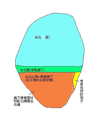 台北人心中的台灣地圖