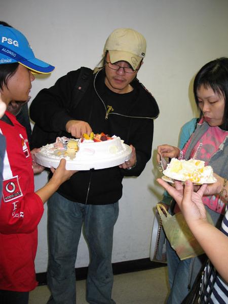 機場切蛋糕
