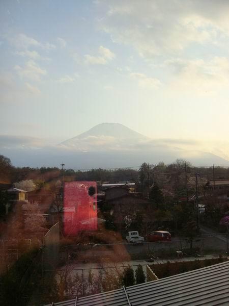 遠眺黃昏富士山
