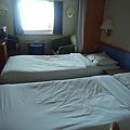 方窗海景客房放的是兩張單人床