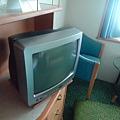 方窗海景客房的電視屬於傳統型