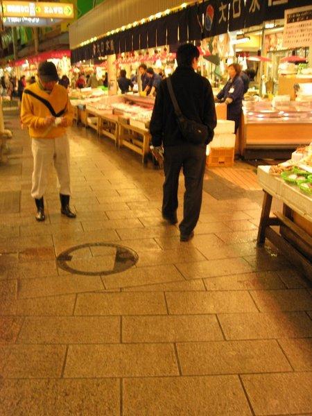 乾淨的市場地板