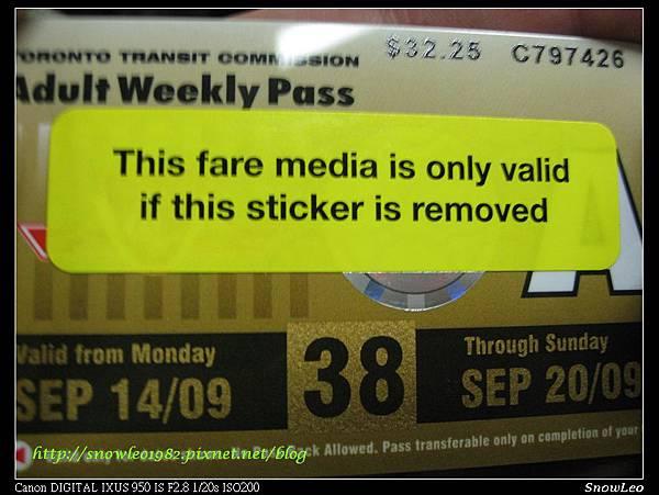 多倫多地鐵周遊券