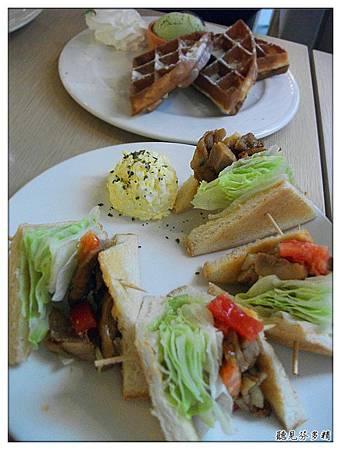 三明治與鬆餅