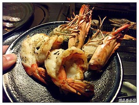 大草蝦烤好