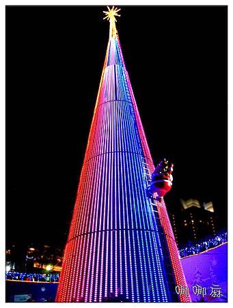 往上看耶誕樹