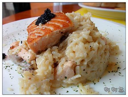 烤鮭魚排奶油燉飯