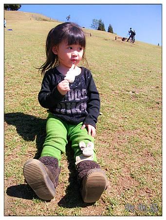 坐草地吃冰
