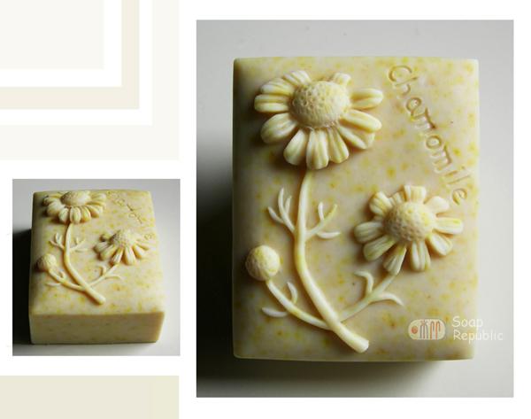 洋甘菊 矽膠皂模