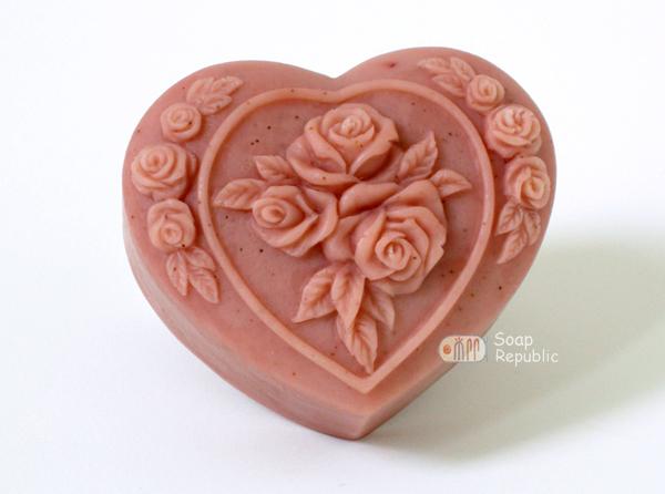 玫瑰心 矽膠皂模