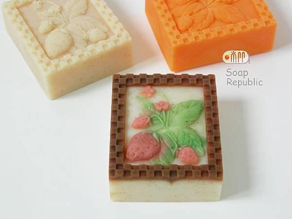 草莓 矽膠皂模