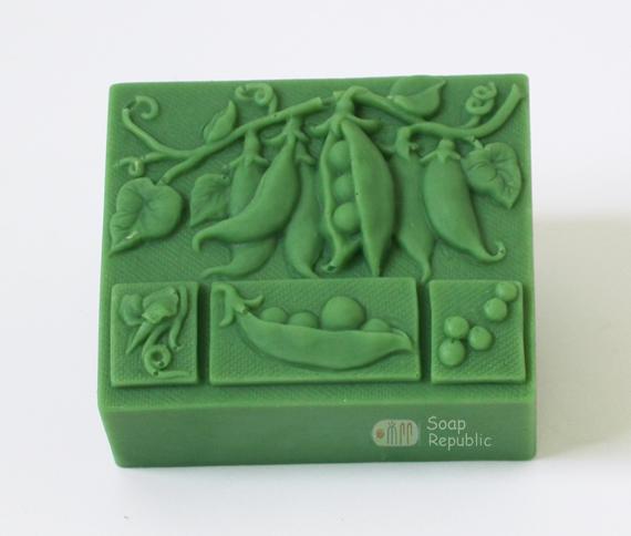 甜豆莢矽膠皂模