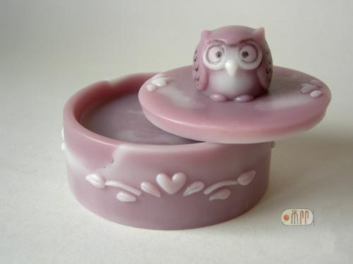 S-038 花編皂盒貓頭鷹蓋 420 元