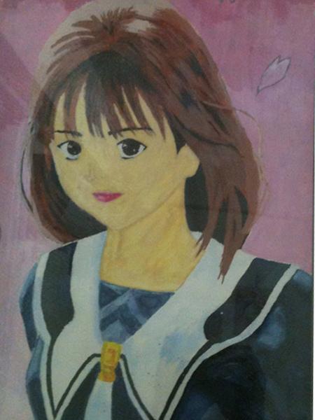 高中水彩作品