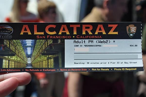 通往Alcatraz 的船票