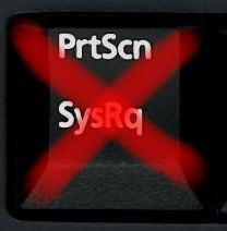 沒有 print screen 按鈕
