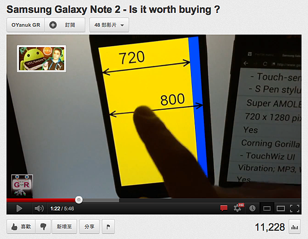 Galaxy Note 2 解析度較差