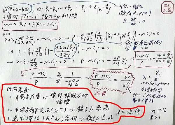 Lerner index導求