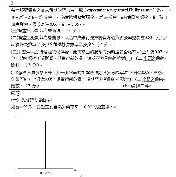 104身障三等申論題第2題(1)