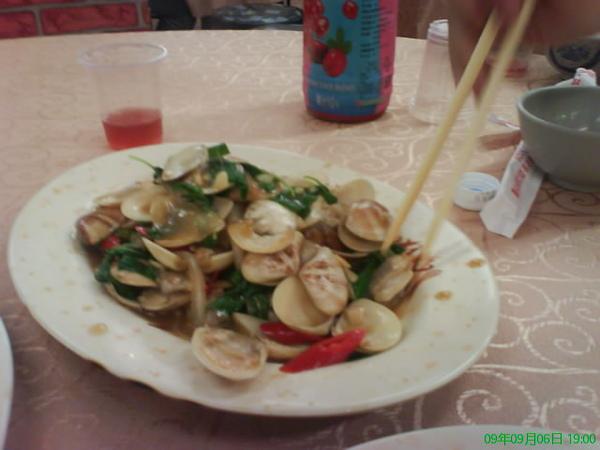 炒海瓜子蛤蠣