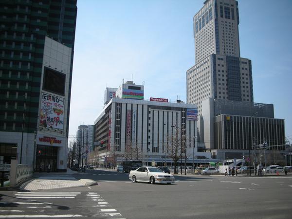 札幌街景,最高的是車站