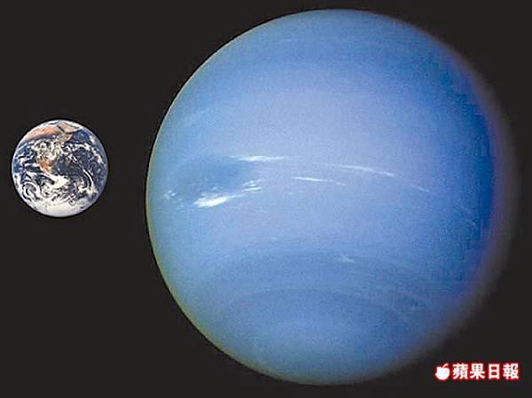 海王星與地球
