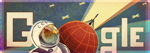 Yuri Gagarin.太空飛人50週年.2011年4月12日.GOOGLE
