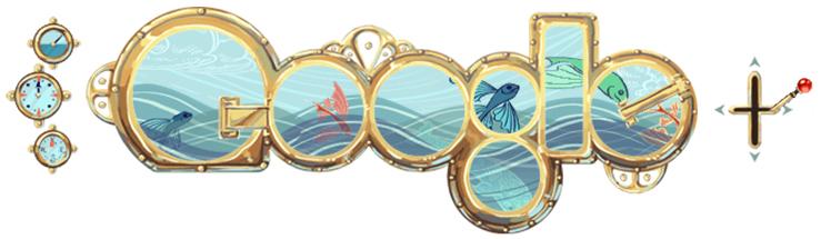 儒勒凡爾納JulesVerne生日.20110208.Google