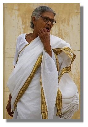 印度老婦人