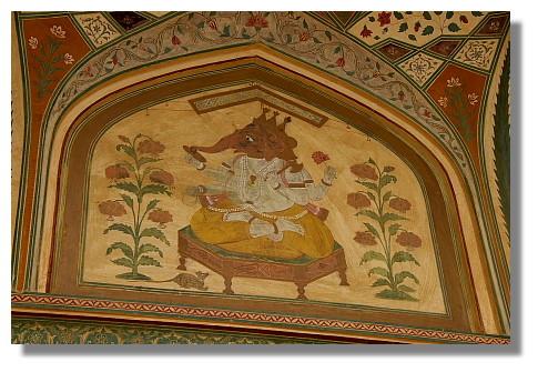 印度象神壁畫
