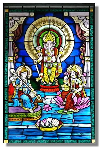 彩繪玻璃:印度教眾神