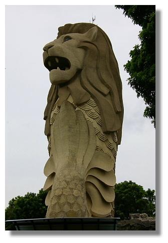 新加坡的地標:魚尾獅